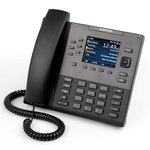 Téléphone IP SIP 9 lignes avec ports GigE Ethernet et écran couleur (sans bloc secteur)