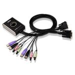 Commutateur KVM DVI USB à 2 ports avec audio