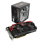 4 Go Dual DVI/HDMI/DisplayPort - PCI Express (AMD Radeon R9 290) + Alimentation 500W 80PLUS Bronze