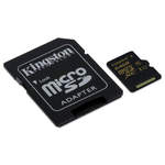 MicroSDXC 64 Go High Capacity Class 10 avec adaptateur SD (garantie à vie par Kingston)