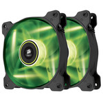 Paire de ventilateurs de boîtier 120 mm avec LEDs vertes