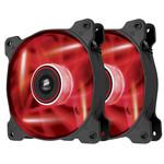 Paire de ventilateurs de boîtier 140 mm avec LEDs rouges
