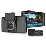 Double caméra boite noire vidéo Full HD avec écran LCD pour automobile avec module Wi-Fi