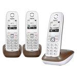 Téléphone sans fil avec 2 combinés supplémentaire