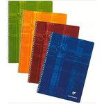 Clairefontaine Cahier Metric Spirale 100 pages grands carreaux Seyès A4 coloris aléatoires