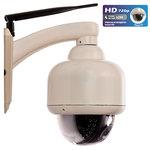 Caméra IP d'extérieure motorisée à vision nocturne connectée (Wi-Fi)