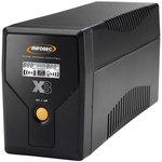 Onduleur Line Interactive 2 prises FR/Schuko 500VA - RJ11/RJ45 - écran LCD