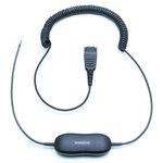 Cordon intelligent universel pour connexion micro-casque via téléphone fixe