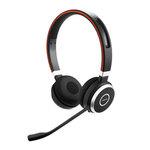 Micro-casque sans fil Bluetooth stéréo équipé d'un adaptateur Jabra Link 360 USB pour softphones VoIP, mobiles et tablettes