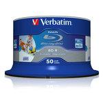 Pack de 50 BD-R SL 25 Go certifié 6x avec une surface blanche imprimable