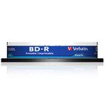 Pack de 10 BD-R SL 25 Go certifié 6x avec une surface blanche imprimable