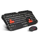 Ensemble clavier sans fil (AZERTY Français) + souris optique sans fil pour gamer