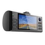 """Double caméra vidéo HD avec écran 2.7"""" et module GPS"""