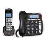 Téléphone 2 en 1 avec base filaire et combiné DECT sans fil
