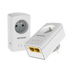 Pack de 2 Adaptateurs CPL AV + 2x Ethernet 500 Mbit/s + prise électrique filtrée