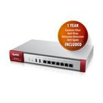 Pare-feu UTM et VPN 50 tunnels 5 ports 10/100/1000 Mbps + 3 ports WAN + Licences (CF, AS, AV et IDP) 1 an