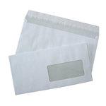 Boite de 500 enveloppes format DL 80G fenêtre 45x100 avec bande de protection