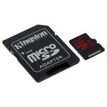 MicroSD 64 Go High Capacity Class 3 avec adaptateur SD (garantie à vie par Kingston)