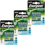 Pack de 12 piles AAA (HR03) rechargeables 800 mAh