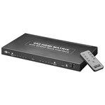 Matrice HDMI (4 entrées + 2 sorties) compatible 4K et 3D avec télécommande