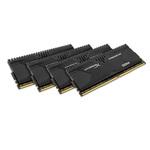 Kit Quad Channel 4 barrettes de RAM DDR4 PC4-22400 - HX428C14PBK4/32 (garantie 10 ans par Kingston)