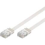 Câble RJ45 plat catégorie 6 U/UTP 5 m (Blanc)