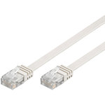 Câble RJ45 plat catégorie 6 U/UTP 10 m (Blanc)