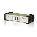 Commutateur KVM VGA USB - PS/2 à 4 ports  (câbles KVM inclus)