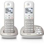 Téléphone (2 combinés) DECT sans fil (version française) avec répondeur