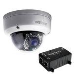 Caméra IP dôme d'extérieur HD PoE Jour/Nuit + Injecteur Power over Ethernet (PoE)