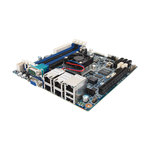 Carte mère Mini ITX avec processeur Intel Atom C2750 - 4x DIMM DDR3 - SATA 6Gb/s - USB 2.0 - 1x PCI-Express 2.0 16x - 4x Gigabit LAN