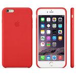 Coque en cuir rouge pour Apple iPhone 6 Plus