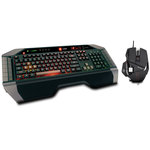 Ensemble clavier à rétro-éclairage tricolore pour gamer (AZERTY Français) + Souris laser modulable à 7 boutons pour gamer