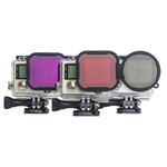 Pack de 3 filtres magenta, rouge et polarisant pour caméra GoPro HERO 3+ / HERO 4