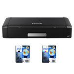 Imprimante jet d'encre - A4 (Wifi/USB) + Cartouche d'encre durabrite ultra Noir + Cartouche d'encre monobloc 3 couleurs (Cyan/Magenta/Jaune)