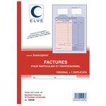 Manifold autocopiant folioté pour auto-enrepreneur au format factures pour particulier et professionnel