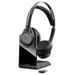 Casque-micro stéréo Bluetooth avec annulation de bruit et support de charge