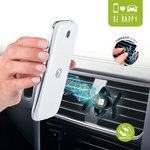 Support hybride aimanté pour smartphone et GPS