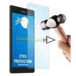 Film de protection en verre trempé avec anti-rayons bleus pour Sony Xperia Z5