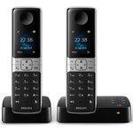 Téléphone DECT sans fil avec répondeur  et 1 combiné supplémentaire (version française)