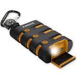 Chargeur de batterie USB autonome tout terrain (compatible tablette, smartphone...) avec lampe de poche intégrée