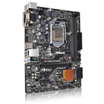 Carte mère Micro ATX Socket 1151 Intel H110 Express - SATA 6Gb/s - USB 3.0 - 1x PCI-Express 3.0 16x
