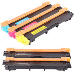 Pack de 5 toners compatibles Brother TN-241/245 (1 x cyan, 1 x magenta, 1 x jaune et 2 x noir)