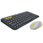 Souris sans fil - droitier - capteur optique 1000 dpi - 4 boutons - compatible toutes surfaces + Clavier Multi-Device (Bluetooth)