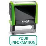 """Timbre formule commerciale """"Pour information"""" Xprint à encrage automatique"""