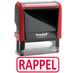"""Timbre formule commerciale """"Rappel"""" Xprint à encrage automatique"""