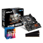 Carte mère Micro ATX Socket 1151 Intel B150 Express + CPU Intel Core i7-6700 (3.4 GHz) + RAM 8 Go DDR3 1600 MHz