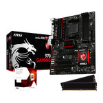 Carte mère ATX Socket AM3+ AMD 970 + CPU AMD FX 6300 Black Edition (3.5 GHz) + RAM 2 x 4 Go DDR3 2133 MHz