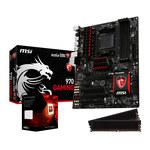 Carte mère ATX Socket AM3+ AMD 970 + CPU AMD FX 8350 Black Edition (4.0 GHz) + RAM 2 x 4 Go DDR3 2133 MHz