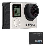 Caméra sportive 4K Ultra HD à mémoire flash avec Wi-Fi et Bluetooth + Batterie rechargeable supplémentaire